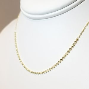 Jewelry - NEW 925 Sterling Silver 18K Gold Ball Necklace